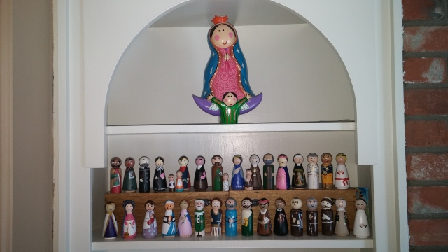 Our Current Saint Peg Doll Collection